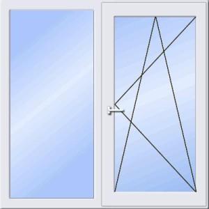 окно двустворчатое - стоимость пластиковых окон