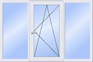 Трехстворчатое окно - стоимость пластиковых окон